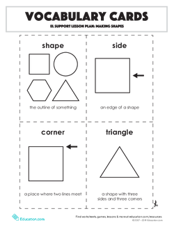 Vocabulary Cards: Making Shapes