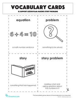 Vocabulary Cards: Making Story Problems