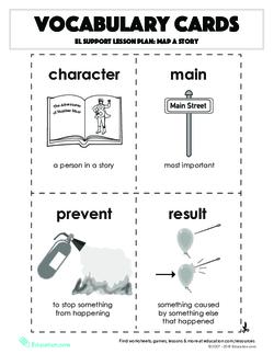 Vocabulary Cards: Map a Story