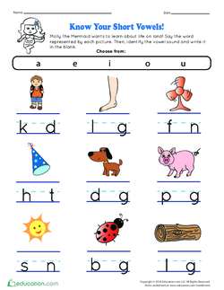 Know Your Short Vowels!
