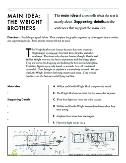 Main Idea: The Wright Brothers