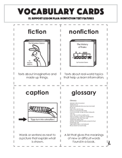 Vocabulary Cards: Nonfiction Text Features