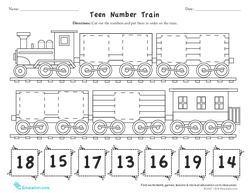 Teen Number Train
