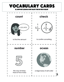 Vocabulary Cards: How Many Fish in the Ocean?