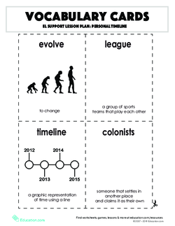Vocabulary Cards: Personal Timeline