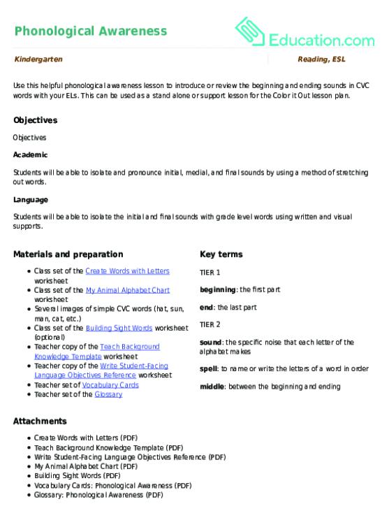 Free Printable Grammar Lesson Plans For Kids Education.com