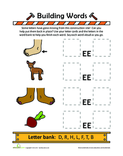 Create Words with Letters