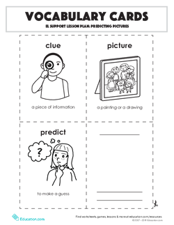 Vocabulary Cards: Predicting Pictures