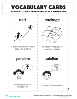 Vocabulary Cards: Problems and Solutions in Fiction