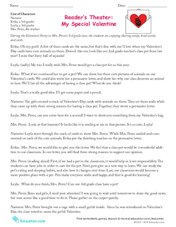 Reader's Theater: My Special Valentine
