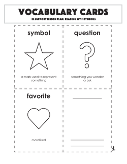Vocabulary Cards: Reading with Symbols