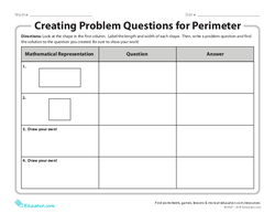 Creating Problem Questions for Perimeter