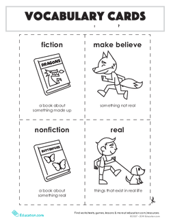 Vocabulary Cards: Real or Not?