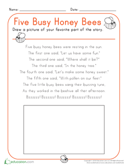 Five Busy Honey Bees