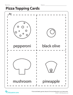 Pizza Topping Cards