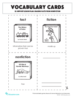Vocabulary Cards: Sharing Facts from Nonfiction