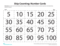 Skip Counting Number Cards