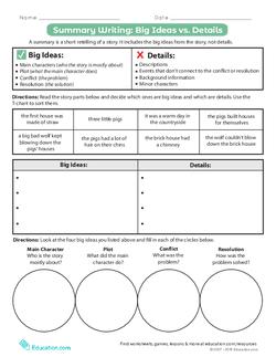 Summary Writing: Big Ideas vs. Details