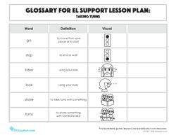 Glossary: Taking Turns