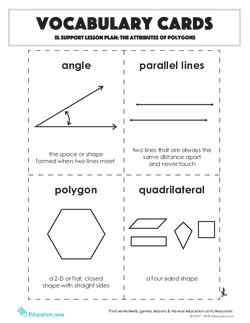 Vocabulary Cards: The Attributes of Polygons