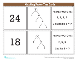 Matching Factor Tree Cards
