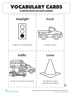 Vocabulary Cards: Traffic Counting