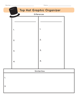 Top Hat Graphic Organizer