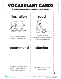 Vocabulary Cards: Using Pictures to Read Words