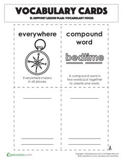 Vocabulary Cards: Vocabulary Focus