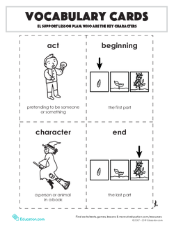 Vocabulary Cards: Who are the Key Characters?