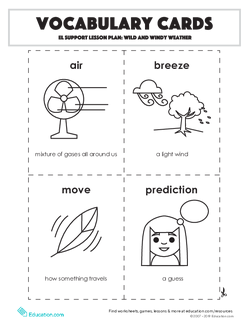 Vocabulary Cards: Wild and Windy Weather