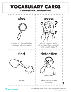 Vocabulary Cards: Word Detectives