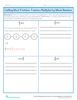 Crafting Word Problems: Fractions Multiplied by Whole Numbers
