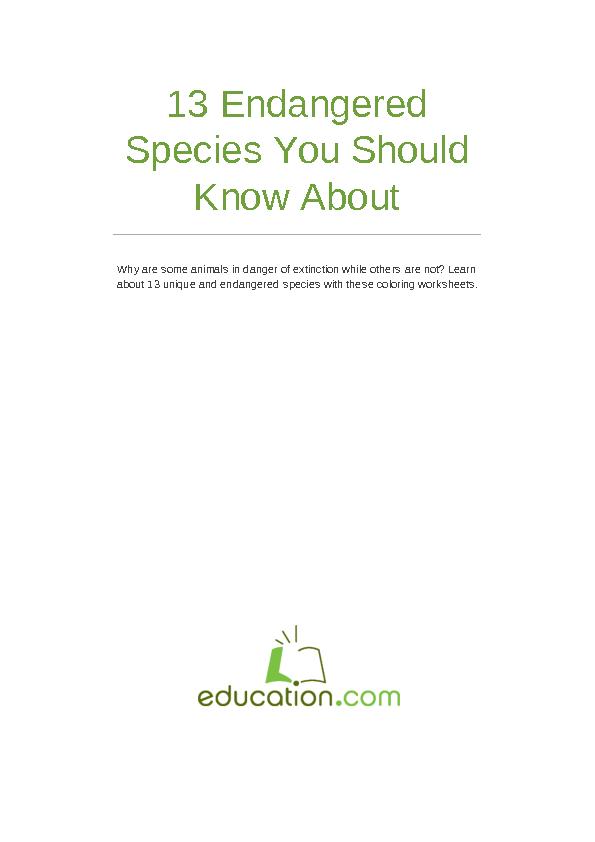 Endangered Species Exploration