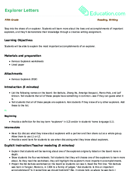 Ibn Battuta Worksheet Education