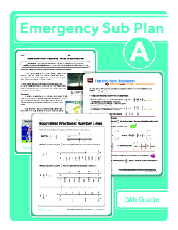 Fifth Grade Sub Plan: Day 1