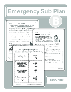 Fifth Grade Sub Plan (black and white): Day 2