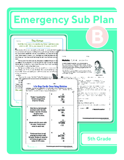 Fifth Grade Sub Plan: Day 2