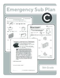 Fifth Grade Sub Plan (black and white): Day 3