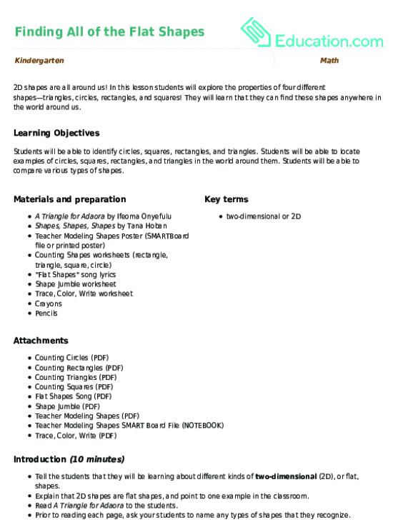 Find The Shapes Circles Worksheet Education