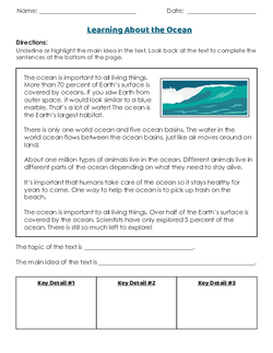 Finding the Main Idea and Details in a Nonfiction Text | Lesson Plan ...