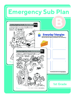 First Grade Sub Plan: Day 2