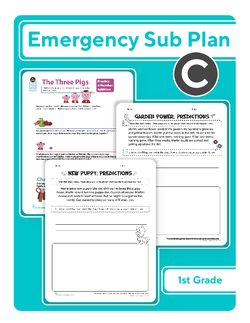 First Grade Sub Plan: Day 3