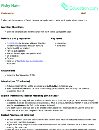 Fishy Math | Lesson plan | Education.com