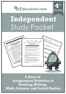 Independent Study Packet: Black and White