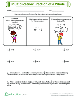 Multiplication: Fraction of a Whole