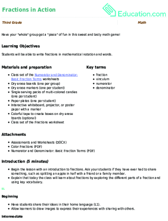 3rd Grade Fractions Learning Resources | Education.com