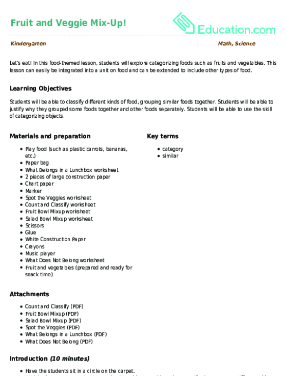 Mixing Colors Lesson Plan Education. Fruit And Veggie Mixup. Kindergarten. Mixing Colors Worksheets For Kindergarten At Clickcart.co