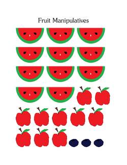 Student Fruit Manipulatives
