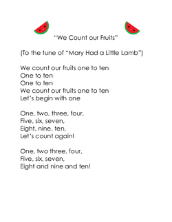 We Count Our Fruits